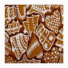 Biscuit Brown Christmas Cookie Medium Glasses Cloth (2-Side)