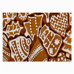 Biscuit Brown Christmas Cookie Large Glasses Cloth (2-Side)