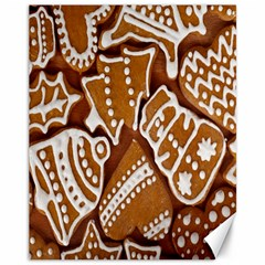 Biscuit Brown Christmas Cookie Canvas 11  x 14