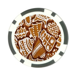 Biscuit Brown Christmas Cookie Poker Chip Card Guard