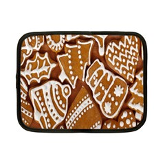 Biscuit Brown Christmas Cookie Netbook Case (Small)