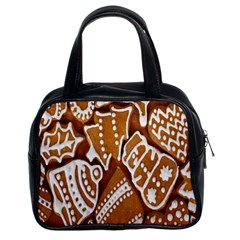 Biscuit Brown Christmas Cookie Classic Handbags (2 Sides)