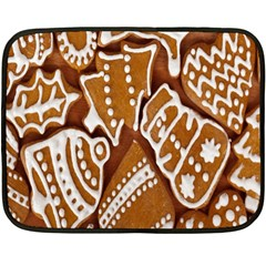 Biscuit Brown Christmas Cookie Double Sided Fleece Blanket (mini)