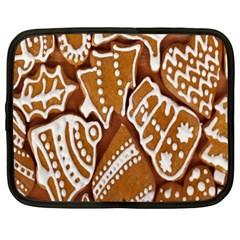 Biscuit Brown Christmas Cookie Netbook Case (XXL)