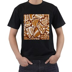 Biscuit Brown Christmas Cookie Men s T-Shirt (Black)