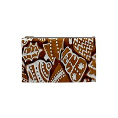 Biscuit Brown Christmas Cookie Cosmetic Bag (small)