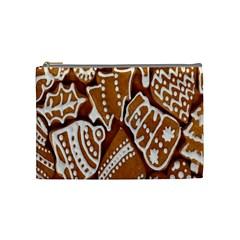 Biscuit Brown Christmas Cookie Cosmetic Bag (Medium)