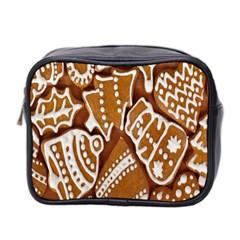 Biscuit Brown Christmas Cookie Mini Toiletries Bag 2-Side