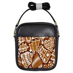 Biscuit Brown Christmas Cookie Girls Sling Bags