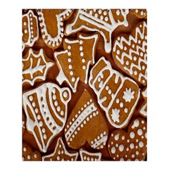 Biscuit Brown Christmas Cookie Shower Curtain 60  x 72  (Medium)