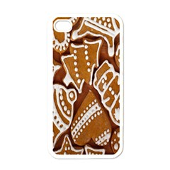 Biscuit Brown Christmas Cookie Apple iPhone 4 Case (White)