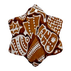 Biscuit Brown Christmas Cookie Ornament (Snowflake)