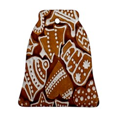 Biscuit Brown Christmas Cookie Bell Ornament (two Sides)