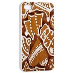 Biscuit Brown Christmas Cookie Apple iPhone 4/4s Seamless Case (White)