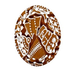 Biscuit Brown Christmas Cookie Ornament (oval Filigree)