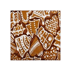 Biscuit Brown Christmas Cookie Acrylic Tangram Puzzle (4  x 4 )