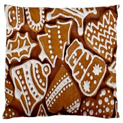 Biscuit Brown Christmas Cookie Large Cushion Case (Two Sides)