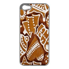 Biscuit Brown Christmas Cookie Apple iPhone 5 Case (Silver)