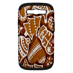 Biscuit Brown Christmas Cookie Samsung Galaxy S III Hardshell Case (PC+Silicone)