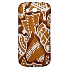 Biscuit Brown Christmas Cookie Samsung Galaxy S3 S III Classic Hardshell Back Case