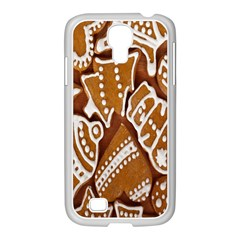 Biscuit Brown Christmas Cookie Samsung Galaxy S4 I9500/ I9505 Case (white)