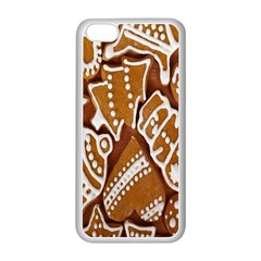 Biscuit Brown Christmas Cookie Apple iPhone 5C Seamless Case (White)