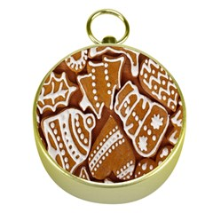 Biscuit Brown Christmas Cookie Gold Compasses