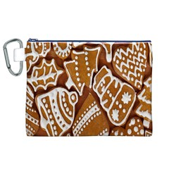 Biscuit Brown Christmas Cookie Canvas Cosmetic Bag (xl)