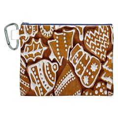 Biscuit Brown Christmas Cookie Canvas Cosmetic Bag (xxl)