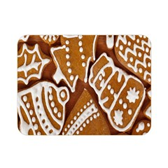 Biscuit Brown Christmas Cookie Double Sided Flano Blanket (Mini)