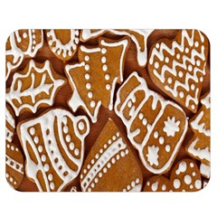 Biscuit Brown Christmas Cookie Double Sided Flano Blanket (Medium)