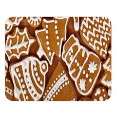 Biscuit Brown Christmas Cookie Double Sided Flano Blanket (large)