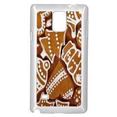 Biscuit Brown Christmas Cookie Samsung Galaxy Note 4 Case (white)
