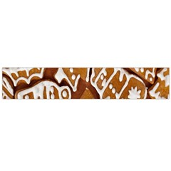 Biscuit Brown Christmas Cookie Flano Scarf (large)