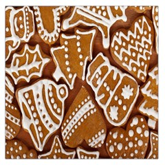 Biscuit Brown Christmas Cookie Large Satin Scarf (Square)