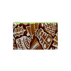 Biscuit Brown Christmas Cookie Cosmetic Bag (XS)