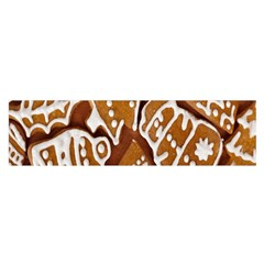 Biscuit Brown Christmas Cookie Satin Scarf (Oblong)