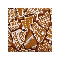 Biscuit Brown Christmas Cookie Small Satin Scarf (square)