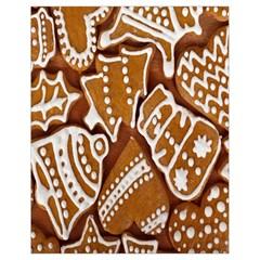 Biscuit Brown Christmas Cookie Drawstring Bag (Small)