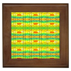 Birds Beach Sun Abstract Pattern Framed Tiles