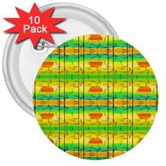 Birds Beach Sun Abstract Pattern 3  Buttons (10 Pack)