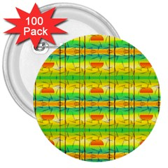 Birds Beach Sun Abstract Pattern 3  Buttons (100 pack)