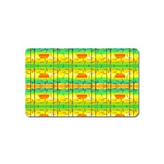 Birds Beach Sun Abstract Pattern Magnet (Name Card)