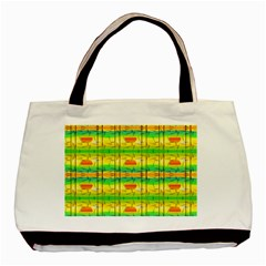 Birds Beach Sun Abstract Pattern Basic Tote Bag