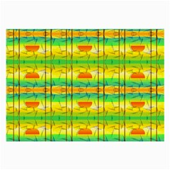 Birds Beach Sun Abstract Pattern Large Glasses Cloth (2-Side)