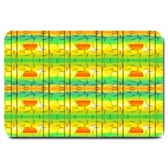 Birds Beach Sun Abstract Pattern Large Doormat