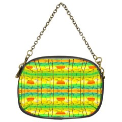 Birds Beach Sun Abstract Pattern Chain Purses (Two Sides)