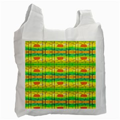 Birds Beach Sun Abstract Pattern Recycle Bag (Two Side)