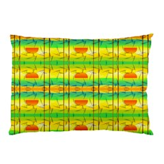 Birds Beach Sun Abstract Pattern Pillow Case (Two Sides)