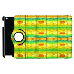 Birds Beach Sun Abstract Pattern Apple Ipad 3/4 Flip 360 Case